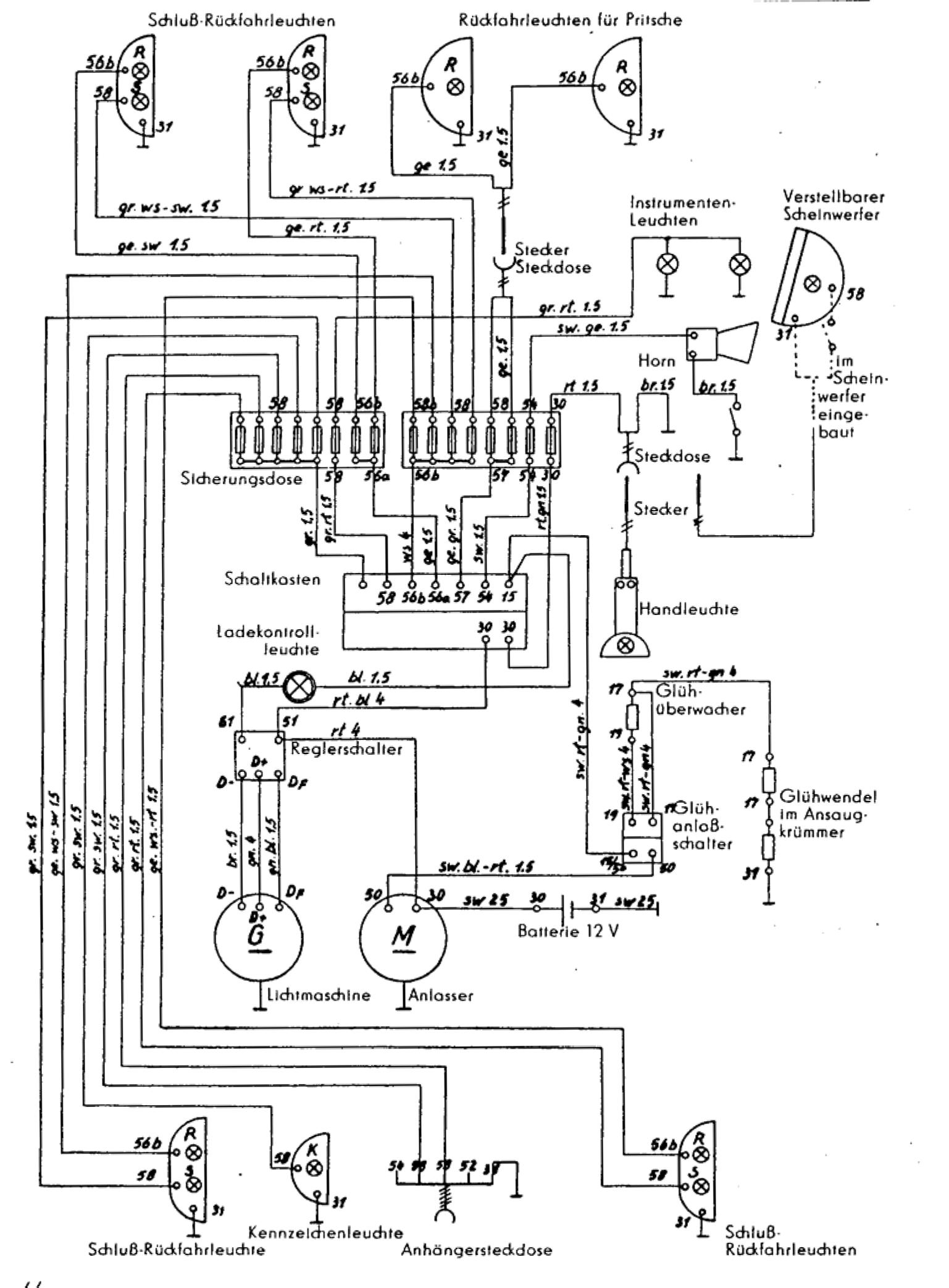 Schaltplan Geräteträger RS 09